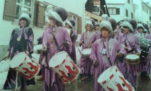 """1981 bis 1983 """"Schneggahüsler"""" unser erstes Kostüm"""